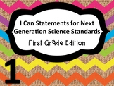 1st Grade I Can Statements NGSS