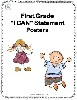 1st Grade I Can Statements Reading, Writing, Math, Science and Social Studies