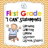 1st Grade I Can Statements Reading, Writing, Math, Science