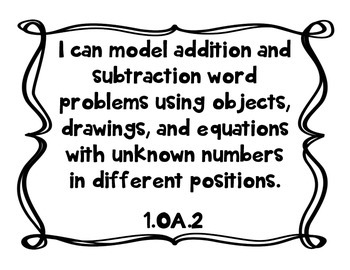 """1st Grade """"I Can"""" Statements for All Subjects - CCSS & Revised Standards"""