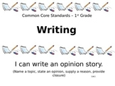 1st Grade I Can Statements for Common Core Writing