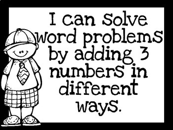 1st Grade I Can Statements for Math