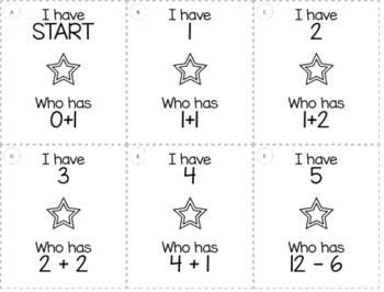 """1st Grade """"I Have, Who Has"""" Math Game Bundle"""