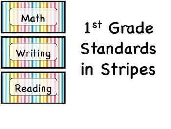 "1st Grade ""I can"" Standards in Stripes"