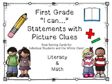 "1st Grade ""I can..."" Statements/Goal Cards"