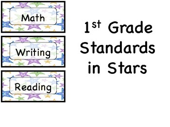 """1st Grade """"I can"""" standards in Stars"""