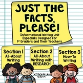 1st Grade INFORMATIONAL Writing Unit - All About, Research