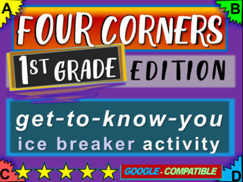 """1st Grade Ice Breaker - """"FOUR CORNERS"""" get-to-know-you game"""