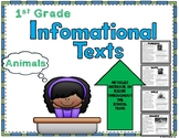 1st Grade Informational Text Articles and Main Ideas - Animals
