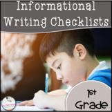 1st Grade Informational Writing Checklist