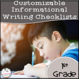 1st Grade Informative Writing Checklist EDITABLE