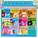 1st Grade Interactive Calendar - The Year Long Bundle
