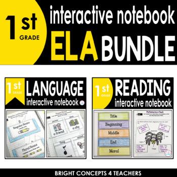 1st Grade Interactive ELA Notebook BUNDLE