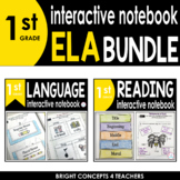 1st Grade Interactive ELA Notebook BUNDLE