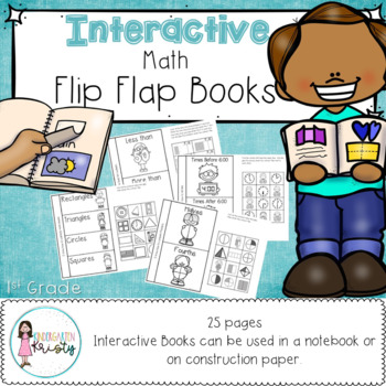 1st Grade Interactive Flip Flap Books (Math)