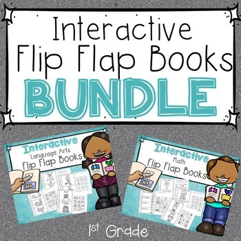 1st Grade Interactive Flip Flap Books _BUNDLE