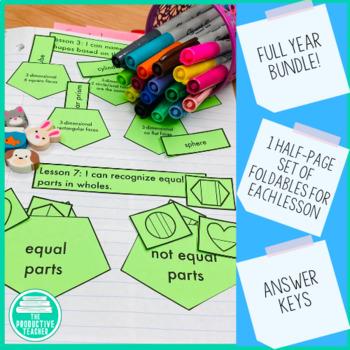 Engage New York Math Aligned Interactive Notebook: Grade 1, Year Bundle