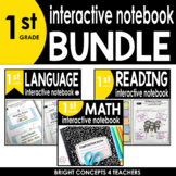 1st Grade Interactive Notebook BUNDLE {ELA & MATH}