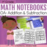 1st Grade Math Interactive Notebook- Operations and Algebraic Thinking OA