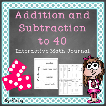 Addition and Subtraction to 40 Interactive Notebook