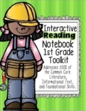 1st Grade Interactive Reading Notebook 100% Common Core Aligned!