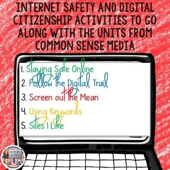 1st Grade Internet Safety Digital Interactive Notebook