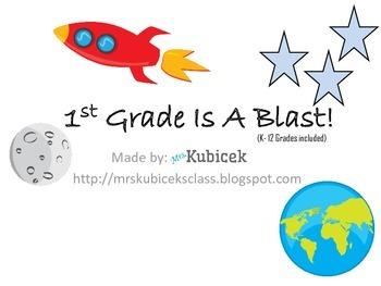 1st Grade Is A Blast! Bulletin Board Set