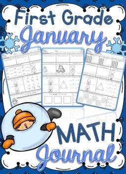 1st Grade January Math Journal