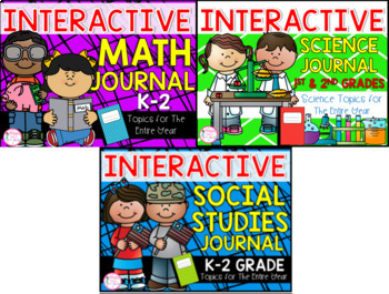 1st Grade Journal Bundle (Math, Science, & Social Studies)