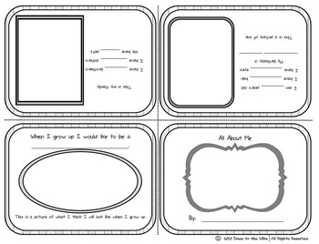 All About Me - 1st Grade Journaling Activity Foldable Storybook