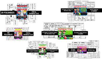 1st AND 2nd Grade Interactive Journals & Foldables Bundle (TEKS & CCSS Aligned)