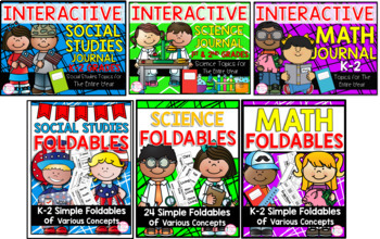 1st AND 2nd Grade Interactive Journals & Foldables Bundle (TEKS & CCSS Aligned)