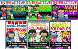 1st AND 2nd Grade Interactive Journals & Foldables Bundle