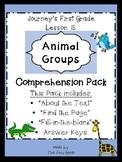 1st Grade Journey's Lesson 15 Comprehension Pack: Animal Groups