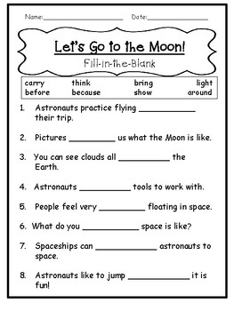 1st Grade Journey's Lesson 16 Comprehension Pack: Let's Go to the Moon!