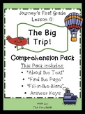 1st Grade Journey's Lesson 17 Comprehension Pack: The Big Trip