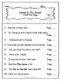 1st Grade Journey's Lesson 9 Comprehension Pack: Dr. Seuss