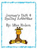 1st Grade Journey's Unit 4 Word Work