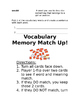 1st Grade Journey's Vocab Matching Game Lesson 8