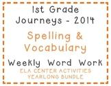 1st Grade Journeys 2014 Spelling, Vocabulary Center Activi