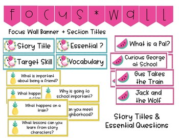 1st Grade Journeys Focus Wall (Tropical Theme)