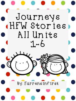 1st Grade Journeys HFW Stories, All Units Pack