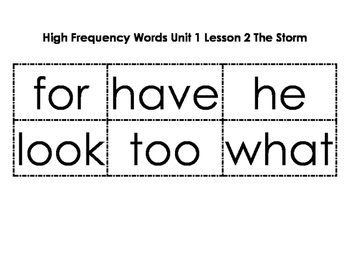 1st Grade Journeys High Frequency Cards