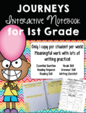 Print-and-Go, Paper-Saving Journeys Interactive Notebook for 1st Grade