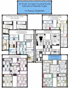 1st Grade Journeys Interactive Notebook Yearlong Bundle