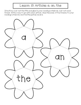 1st Grade Journeys Lesson 10 Interactive Notebook Pages