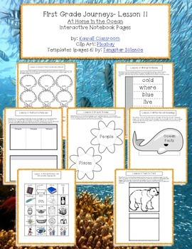 1st Grade Journeys Lesson 11 Interactive Notebook Pages