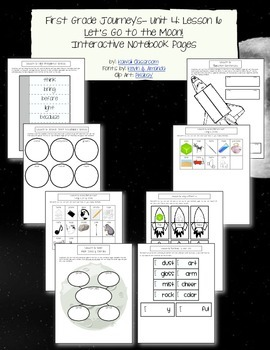 1st Grade Journeys Lesson 16 Interactive Notebook Pages
