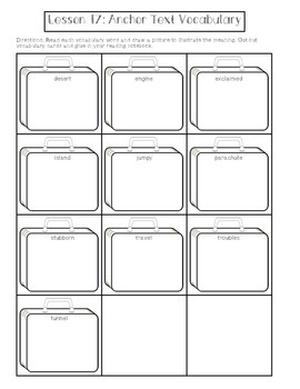 1st Grade Journeys Lesson 17 Interactive Notebook Pages