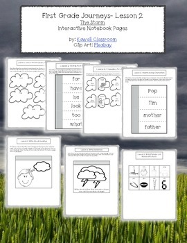 1st Grade Journeys Lesson 2 Interactive Notebook Pages